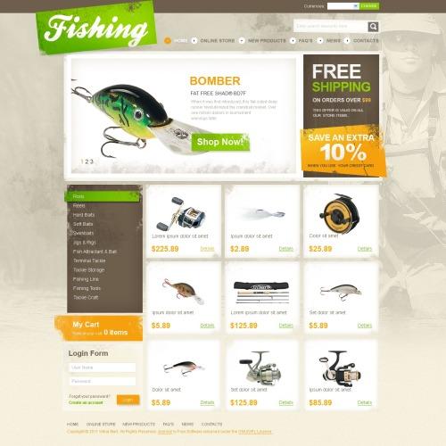 Fishing - VirtueMart Template