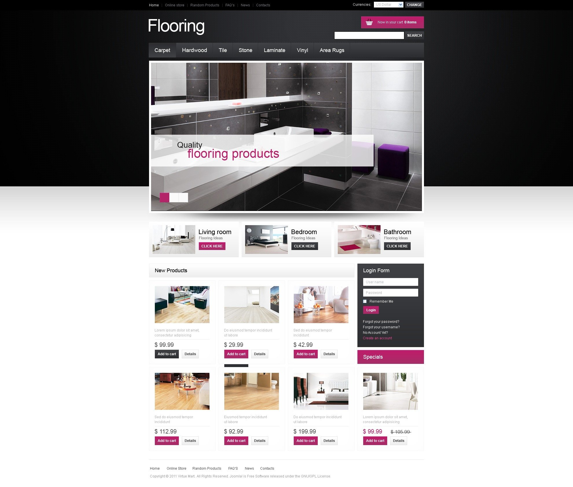 Flooring Store VirtueMart Template