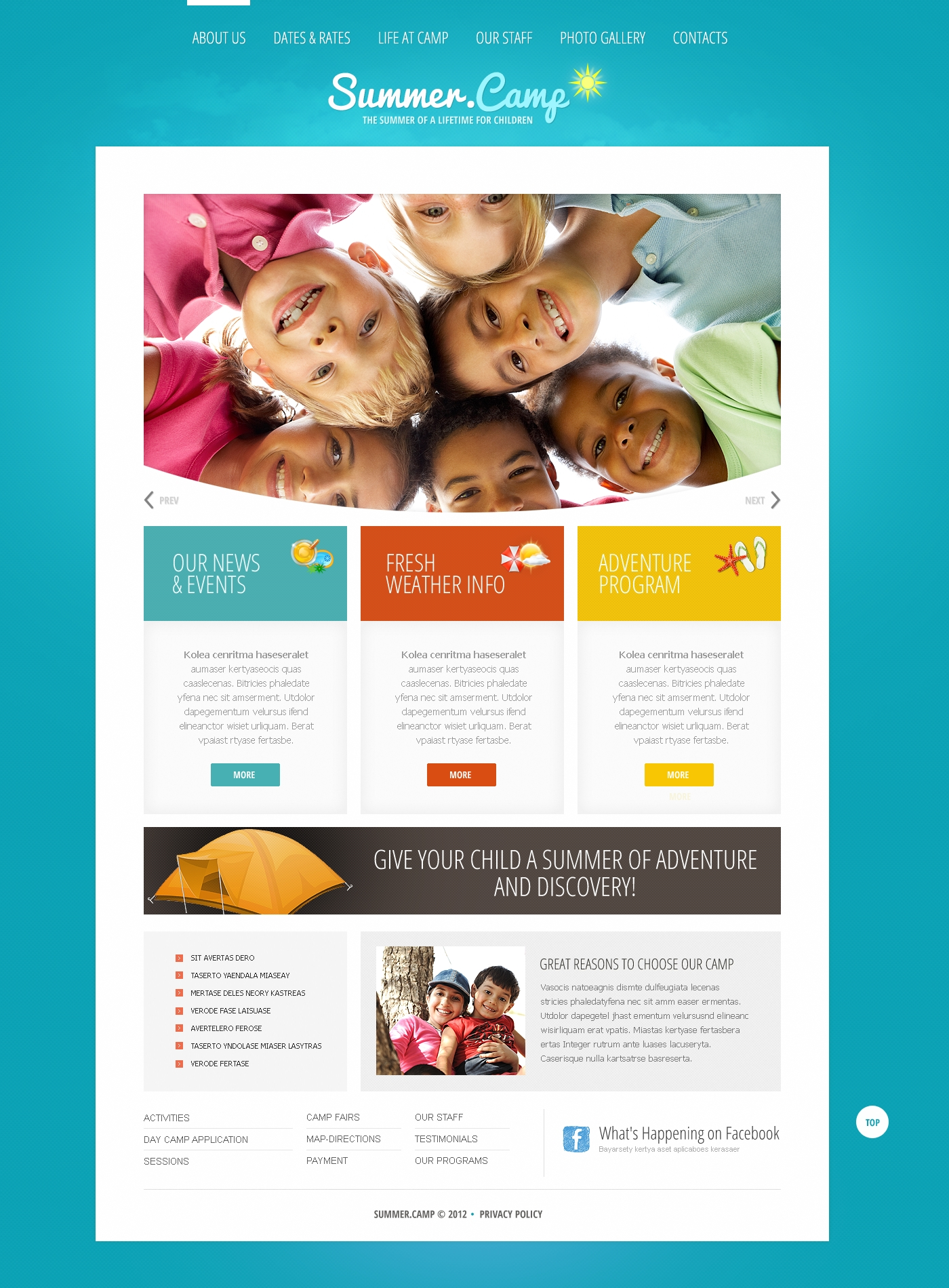 happy summer camp joomla template 41870