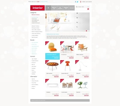 Interior Store OpenCart Template