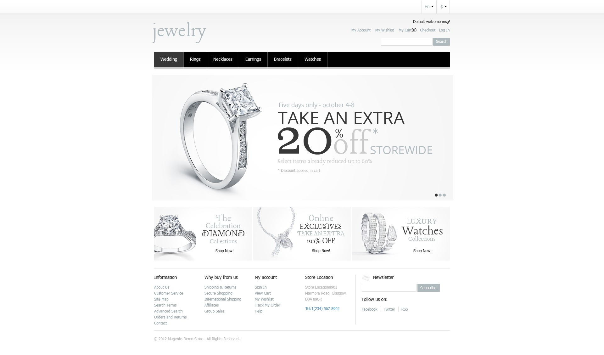 Jewelry Store Magento Theme - screenshot