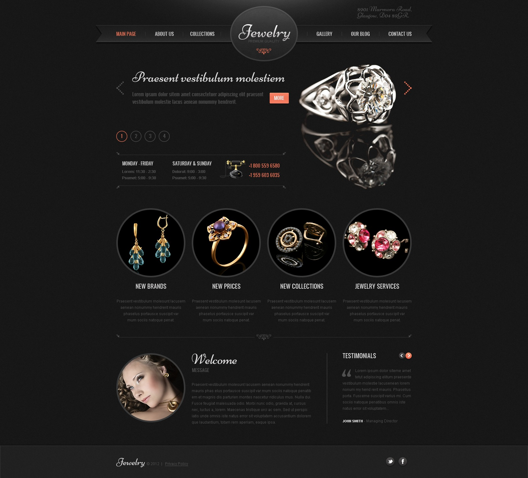 Jewelry wordpress theme 41897 jewelry wordpress theme reheart