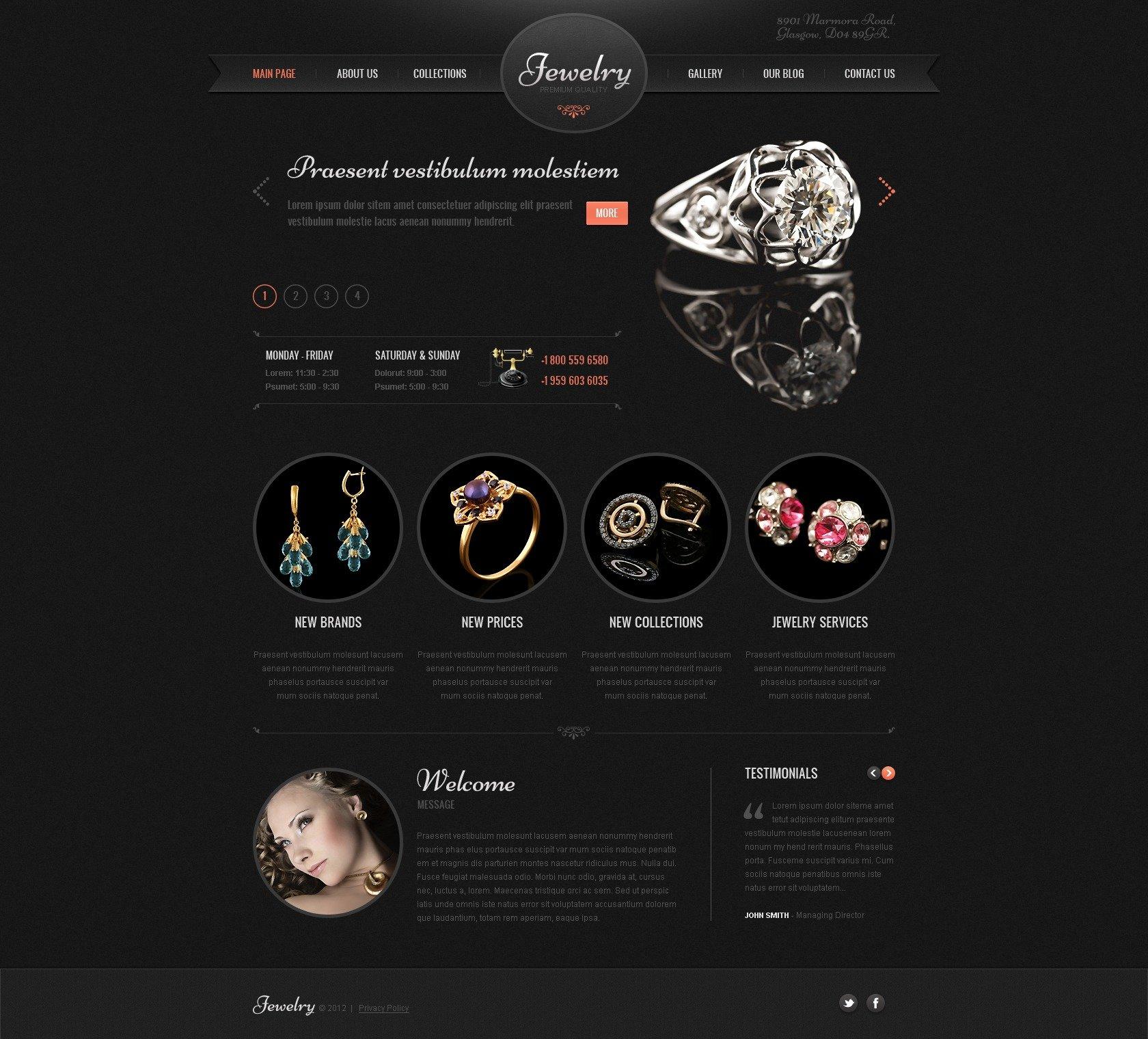 Jewelry WordPress Theme #41897