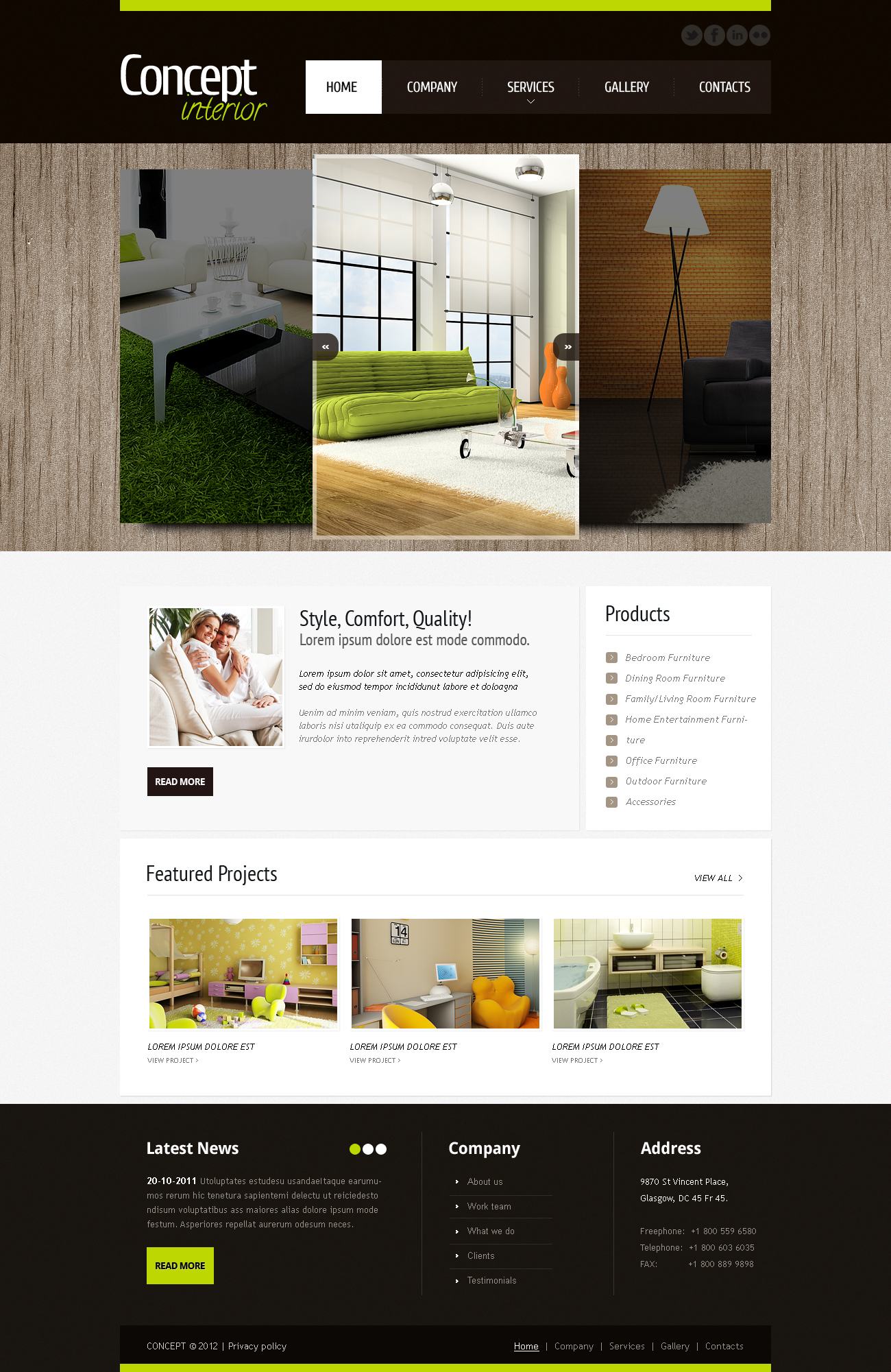 Mod le moto cms html 41860 pour site de design int rieur for Site de design interieur