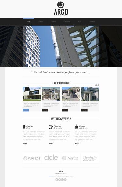 MotoCMS HTML шаблон №41859 на тему архитектура