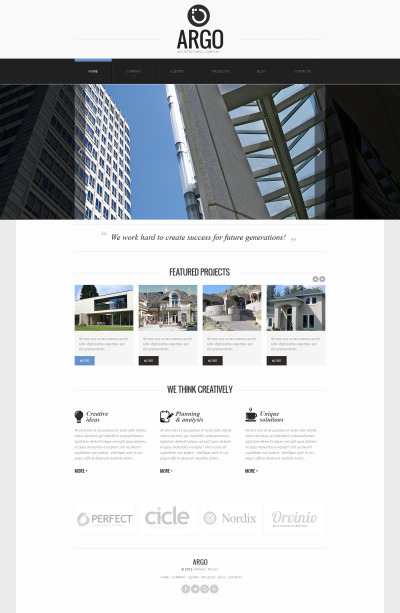 Architecture Responsive Moto CMS HTML Sablon