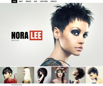 Hair Salon Moto CMS HTML Template