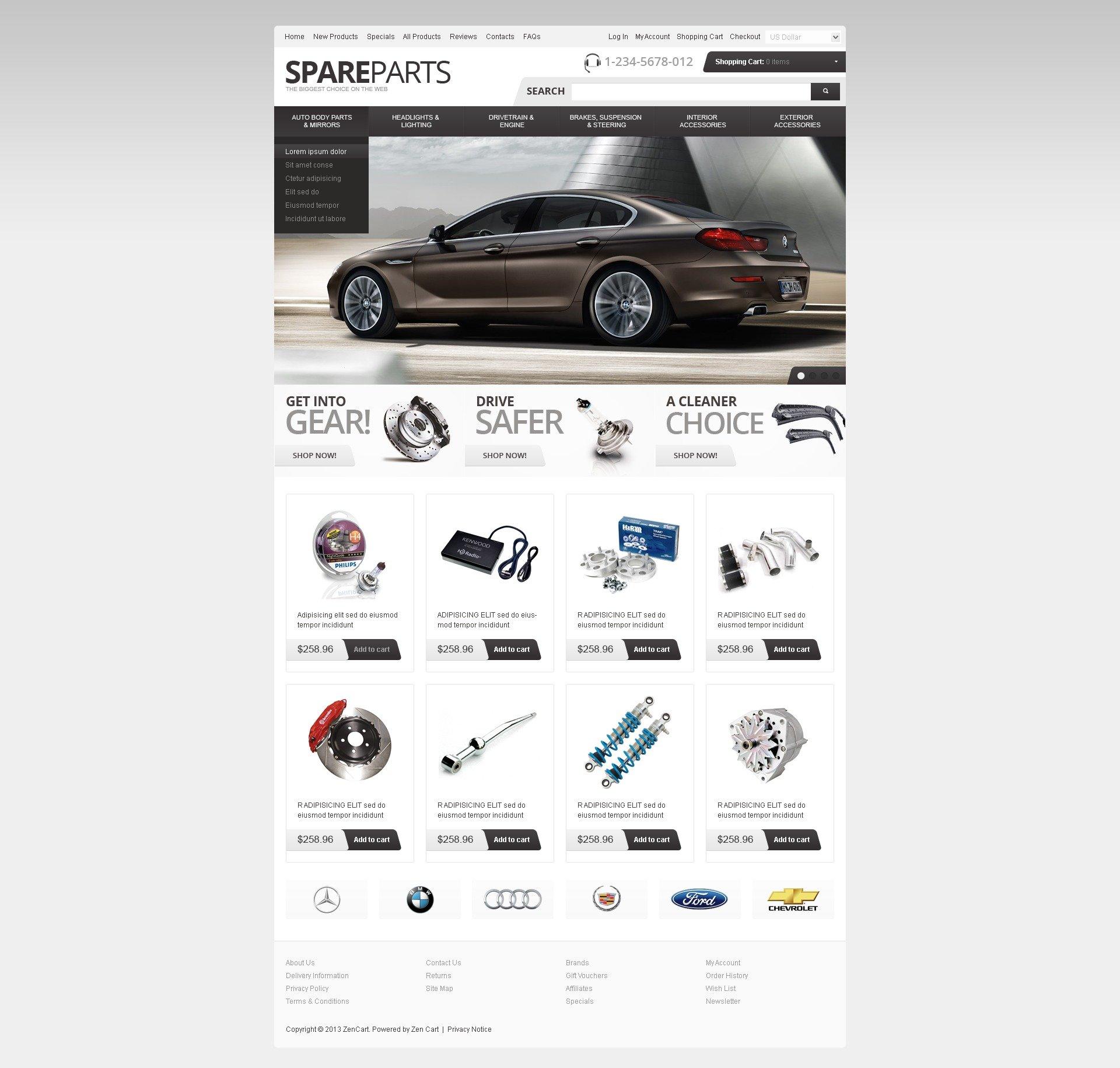 Spare Parts ZenCart sablon 41808