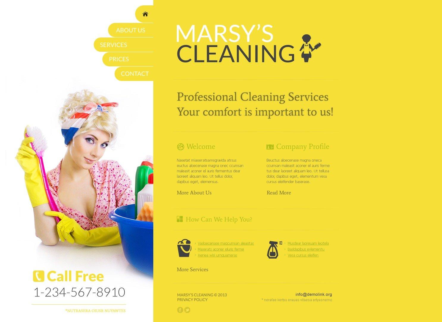 Szablon Strona Www #41829 na temat: czyszczenie