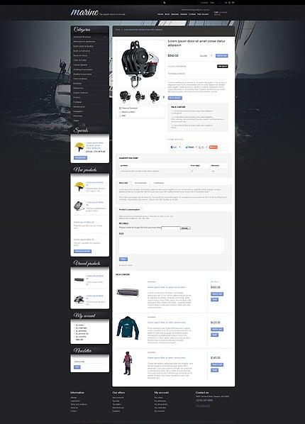 游艇网站PrestaShop模板 Prestashop Products Page Screenshot