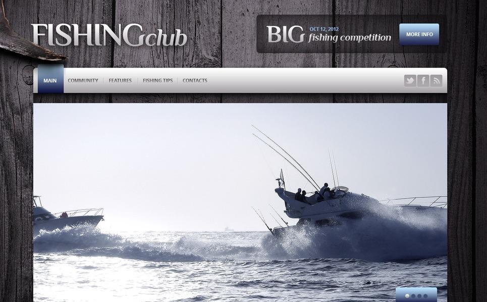 Halászat Weboldal sablon New Screenshots BIG