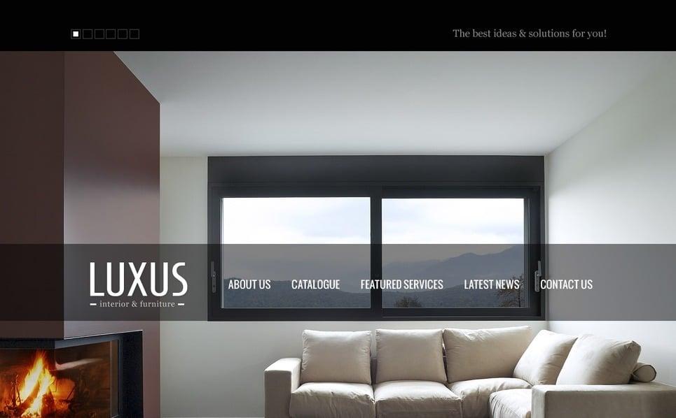 Website template over Interieur & Meubels New Screenshots BIG