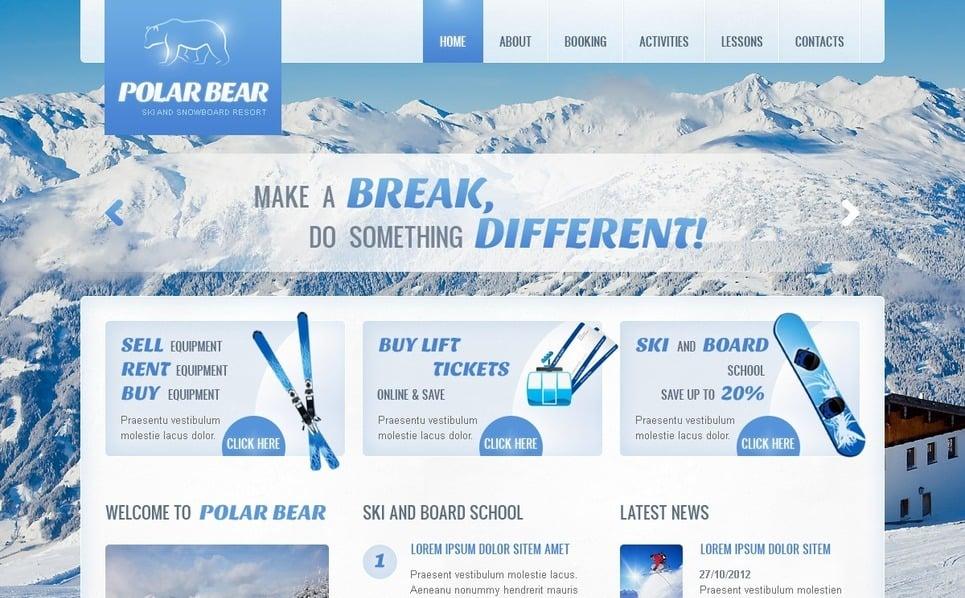 Plantilla Web #41939 para Sitio de Esquí New Screenshots BIG