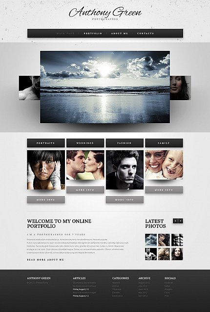 ADOBE Photoshop Template 41945 Home Page Screenshot