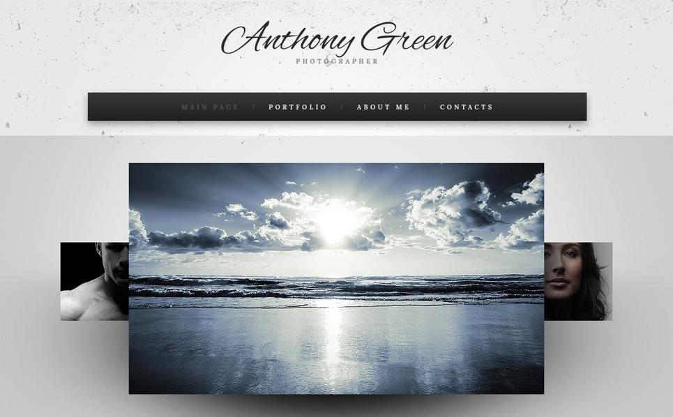Szablon Moto CMS HTML #41945 na temat: portfolio fotograficzne New Screenshots BIG