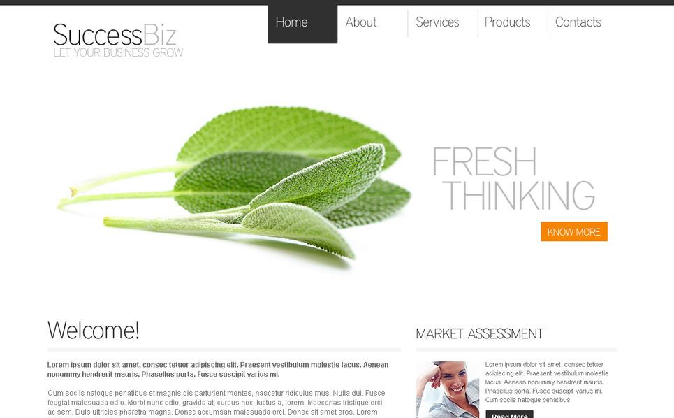 Prémium Üzlet és szolgáltatások Moto CMS HTML sablon New Screenshots BIG