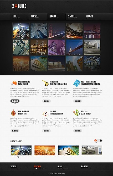 ADOBE Photoshop Template 41949 Home Page Screenshot