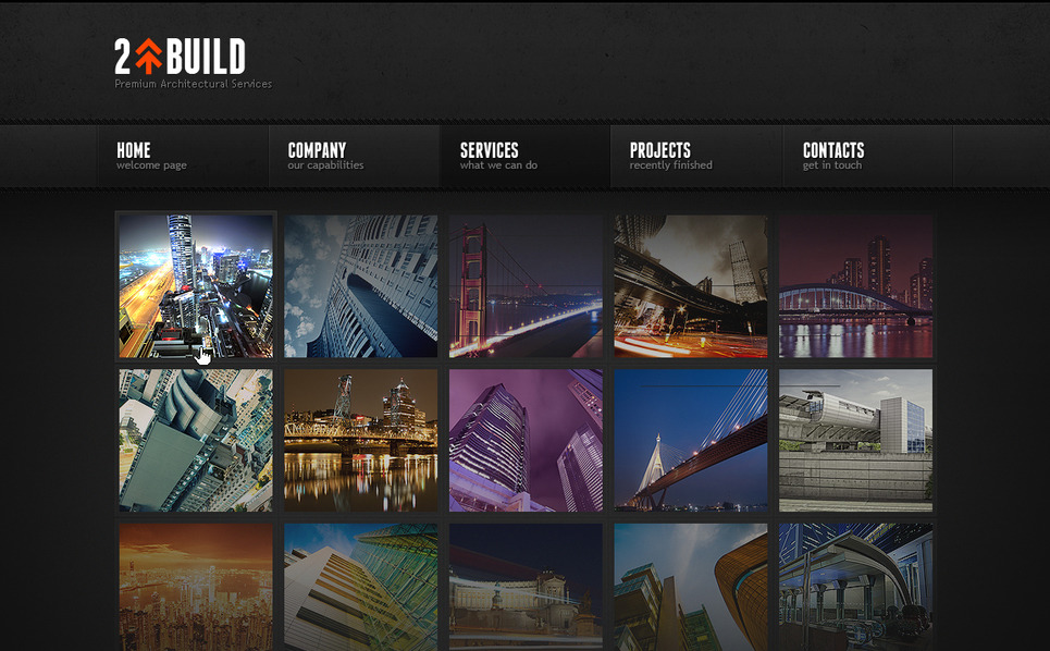 Plantilla Moto CMS HTML #41949 para Sitio de Arquitectura New Screenshots BIG