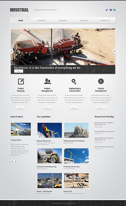 ADOBE Photoshop Template 41950 Home Page Screenshot
