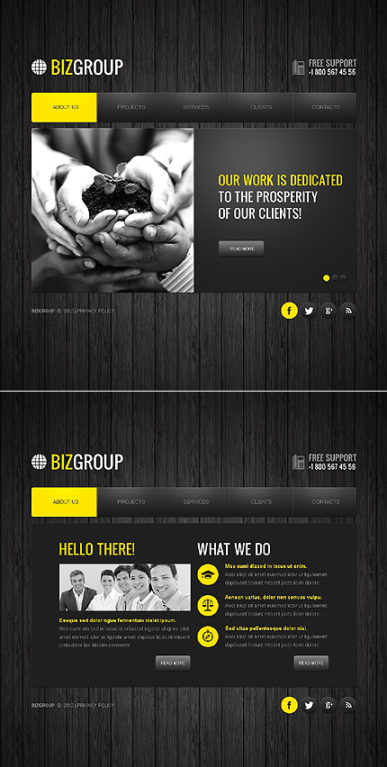 ADOBE Photoshop Template 41951 Home Page Screenshot