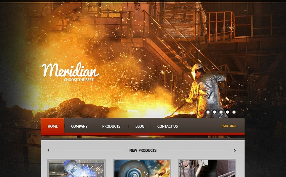 Premium Endüstriyel  Moto Cms Html Şablon New Screenshots BIG