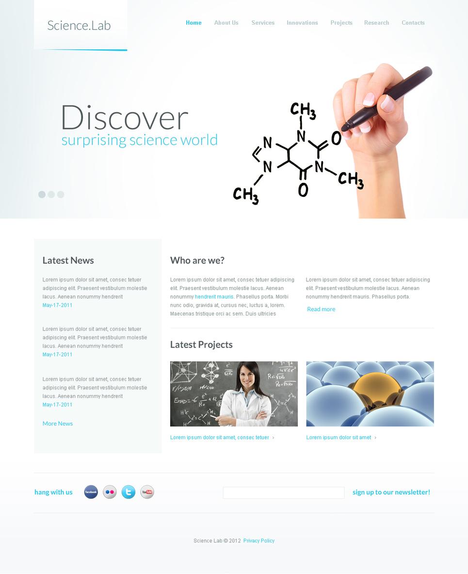 Minimalist Science Lab Website Template - image
