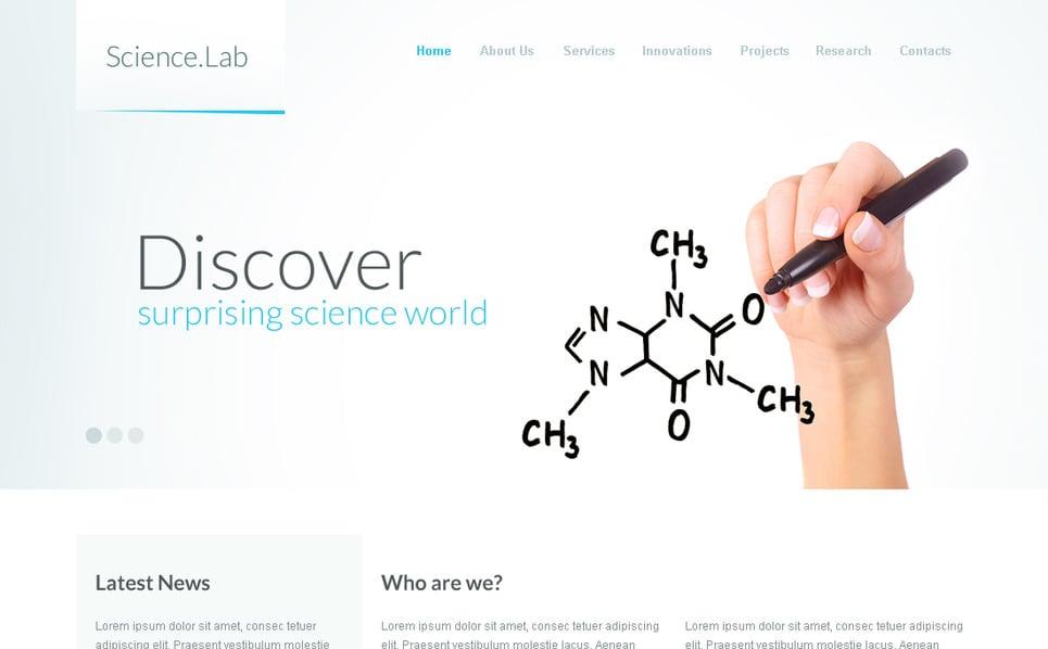 Szablon Moto CMS HTML #41956 na temat: laboratorium naukowe New Screenshots BIG