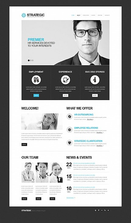 ADOBE Photoshop Template 41961 Home Page Screenshot