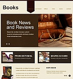 Books Facebook HTML CMS  Template 41973