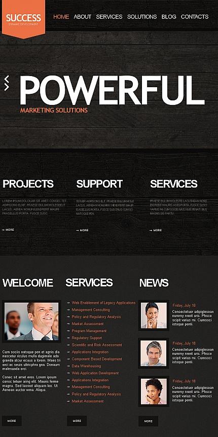 ADOBE Photoshop Template 41977 Home Page Screenshot