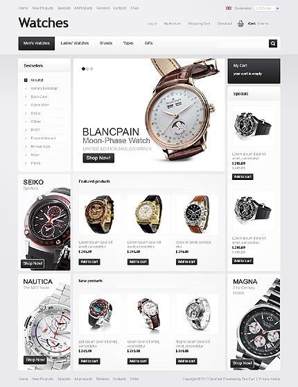 ZenCart Template 41988 Main Page Screenshot
