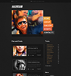 Night Club Website  Template 41990