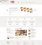 Cafe & Restaurant Website  Template 41996