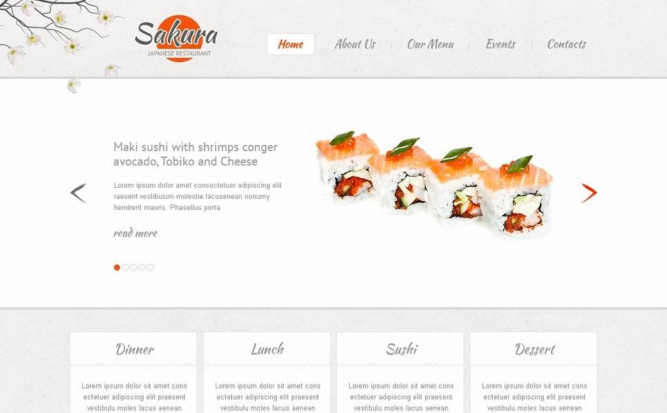 Japán éttermek Weboldal sablon New Screenshots BIG