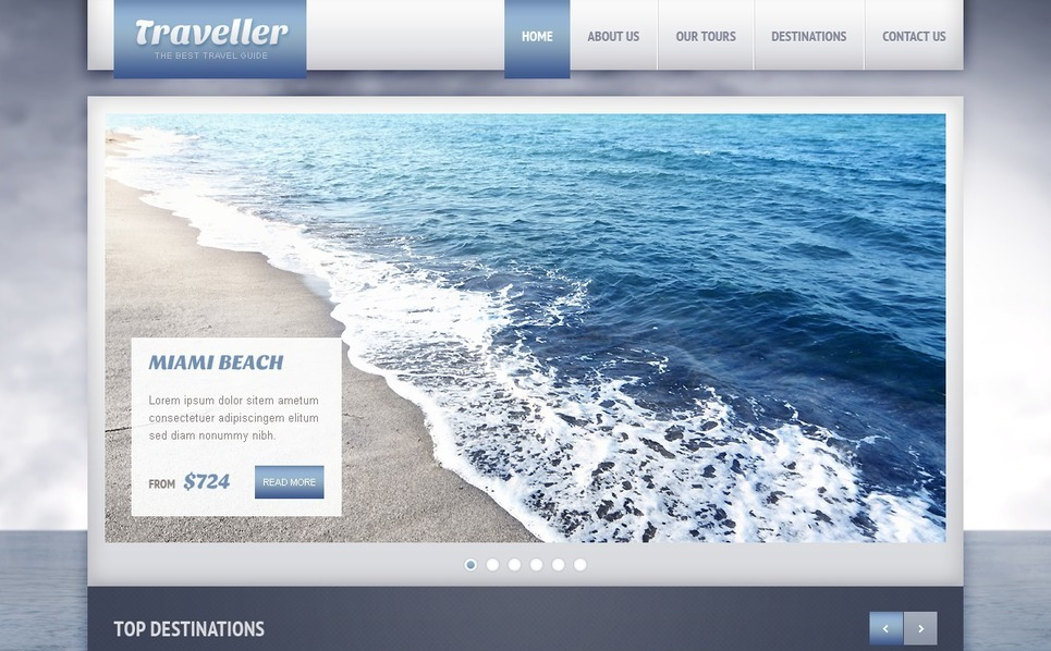 Šablona webových stránek Cestovní kancelář New Screenshots BIG