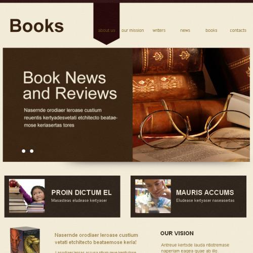 Books - Facebook HTML CMS Template