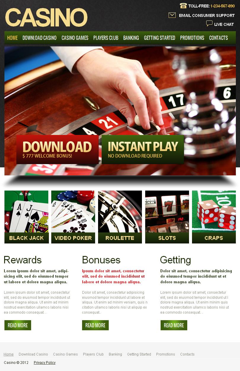 Казино покер шаблону HTML TT клуб казино в УФІ