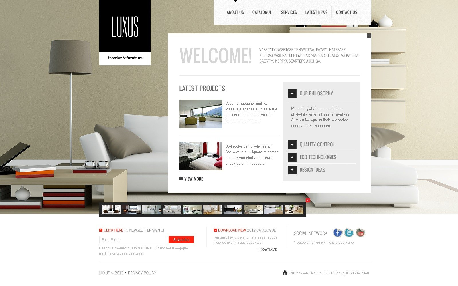 interior design website template 41922. Black Bedroom Furniture Sets. Home Design Ideas