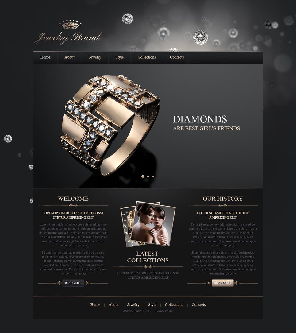 Jewelry Moto CMS HTML Template #41946
