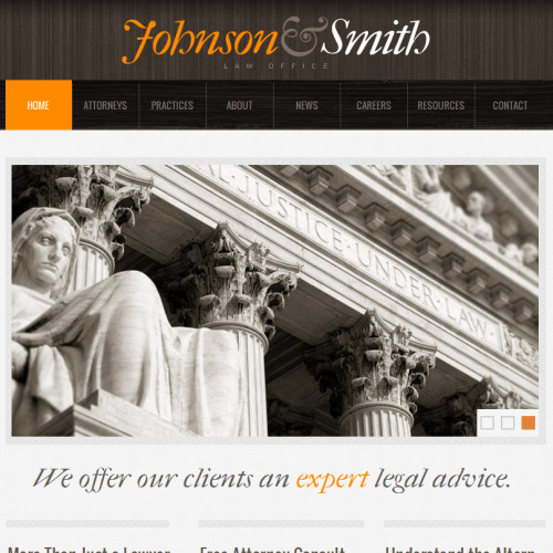 Johnson & Smith - Facebook HTML CMS Template