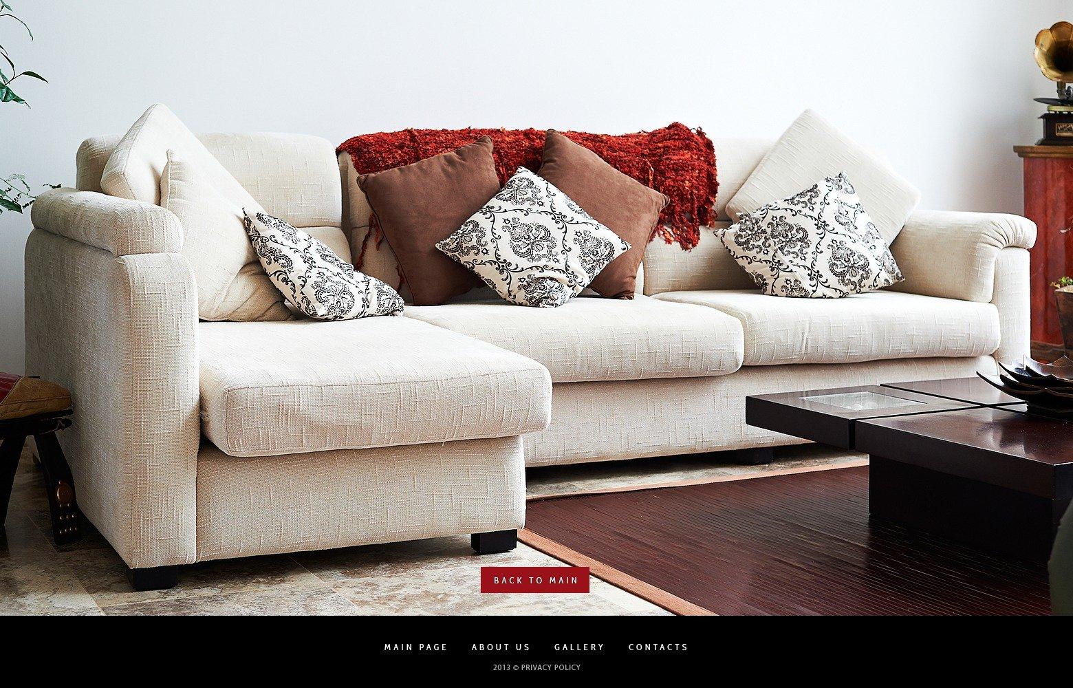 Template siti web 41924 per un sito di arredamento for Siti design casa