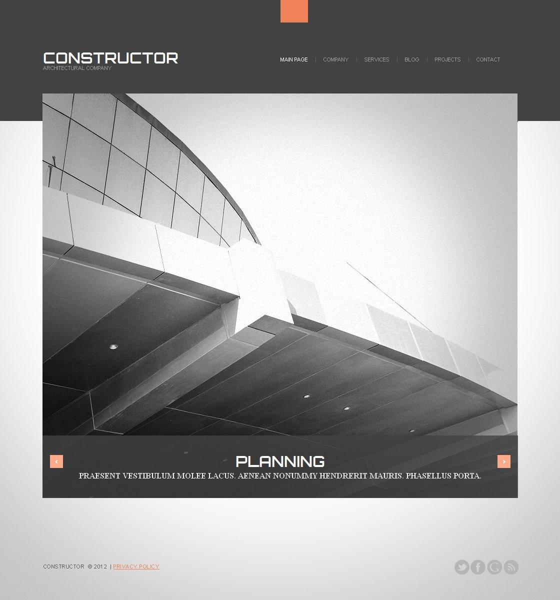 Moto CMS HTML Vorlage für Baufirma #41959