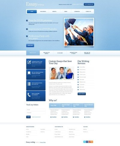 Plantilla Web #41908 para Sitio de  para Sitio de Educación