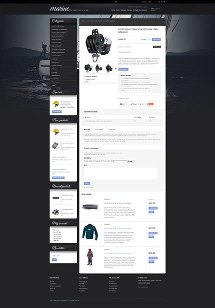 Sailing Gear PrestaShop Theme Prestashop Products Page Screenshot