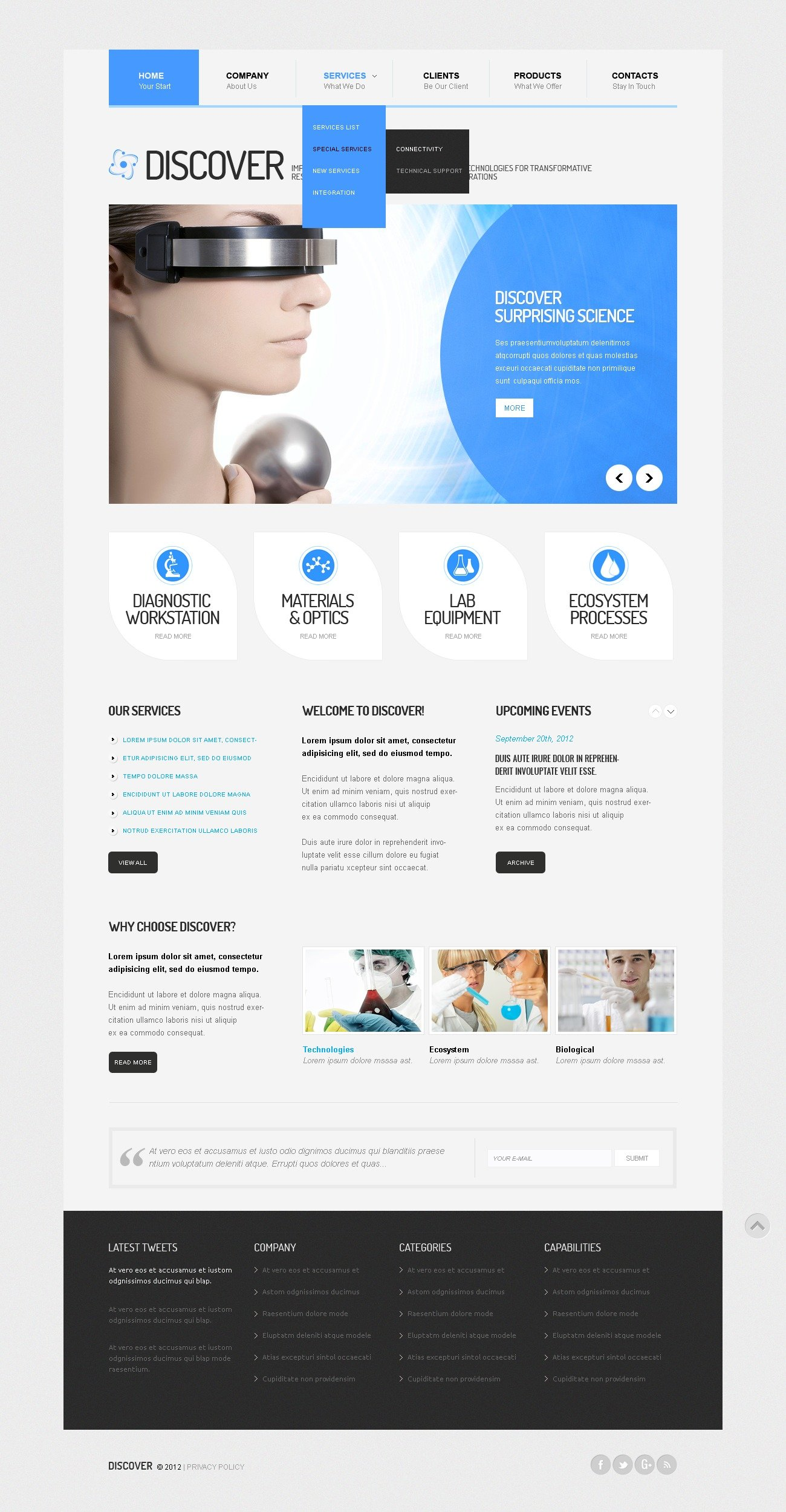Sterile Science Lab Drupal Template