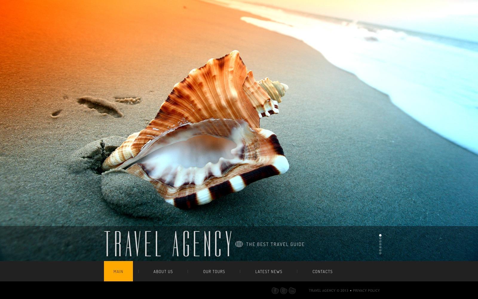 Template Web para Sites de Agencia de Viagens №41926