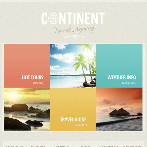 Continent Travel - Facebook HTML CMS Template