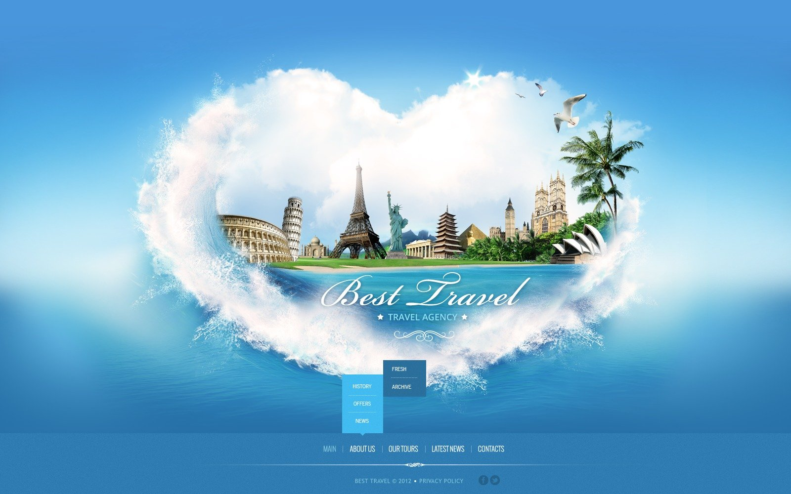 Travel Agency Website Template 41928