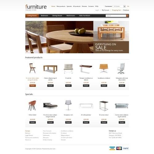 Furniture - ZenCart Template
