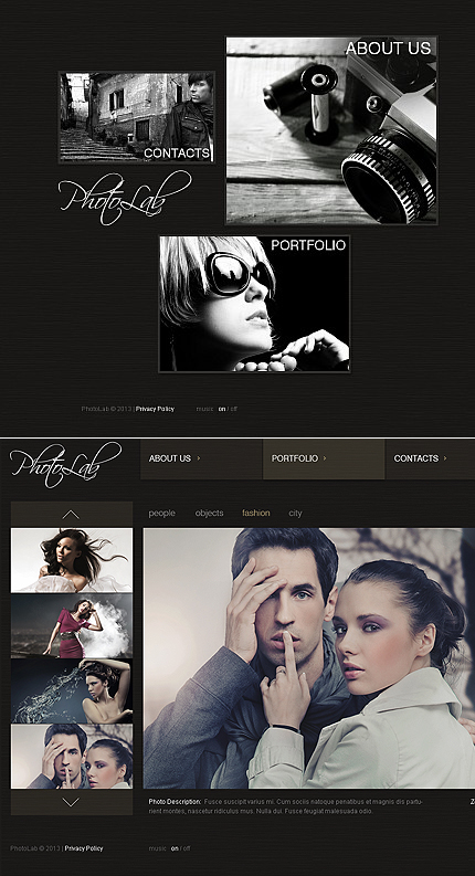 ADOBE Photoshop Template 42002 Home Page Screenshot